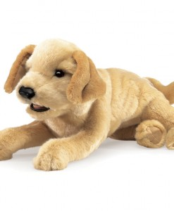 Dusty the Yellow Labrador Puppet 3